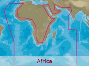 C-MAP Cartography - Africa Bundle | Raymarine Cartography