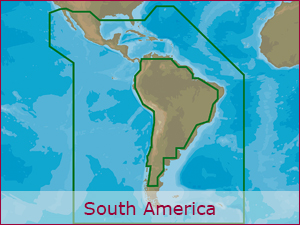 C-MAP Cartography - S.America Bundle | Raymarine Cartography