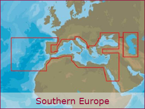 C-MAP Cartography - S.Europe Bundle | Raymarine Cartography