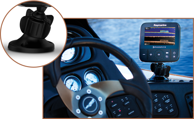 Ball And Socket - Mount Anywhere | Raymarine Dragonfly