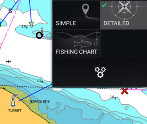Interfaccia utente LightHouse 3 | Raymarine by FLIR