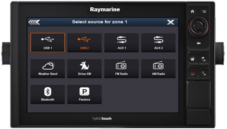 Numerosi ingressi audio per zona | Raymarine by FLIR